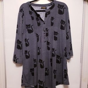 Women's Reborn Cat Tunic Size 1X NWOT